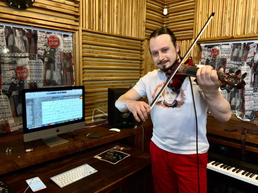 запись скрипки на студии