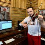 Запись скрипки в студии Gold Word для песни Натальи Пастуховой